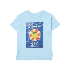 베이비블루 튜브 샐리 키즈 반팔 티셔츠