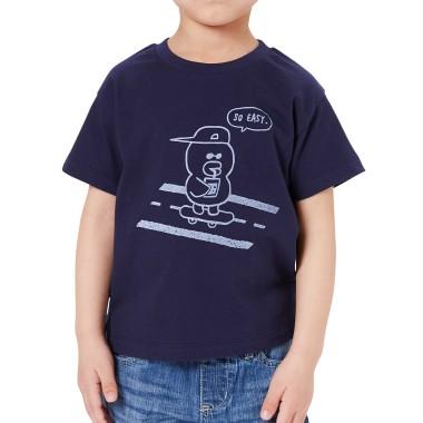네이비 스케이트보드 샐리 키즈 반팔 티셔츠