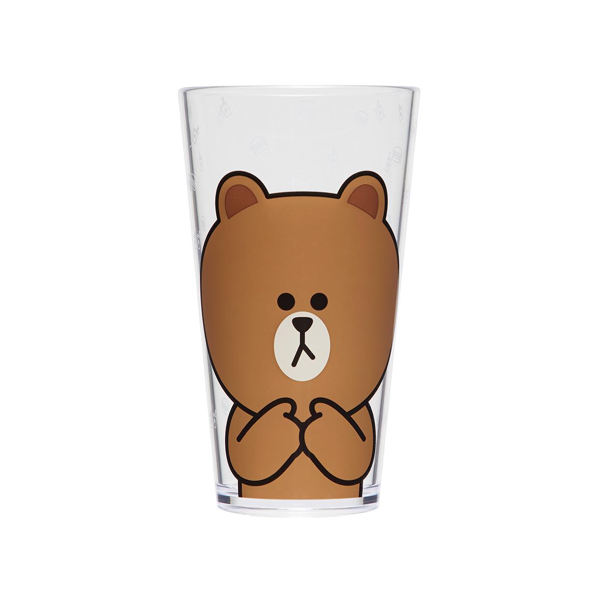 브라운 아이스 컵 세트 (2개입)