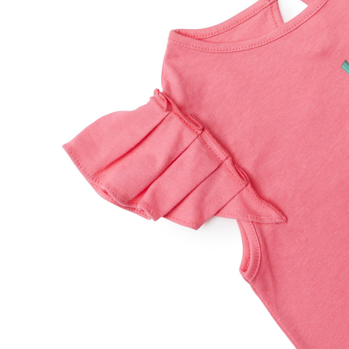 핫핑크 과일 샐리 키즈 셔링 민소매 티셔츠