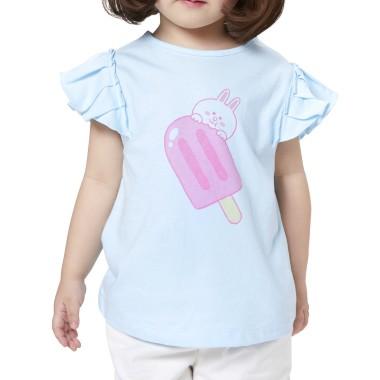 베이비블루 코니 키즈 셔링 민소매 티셔츠