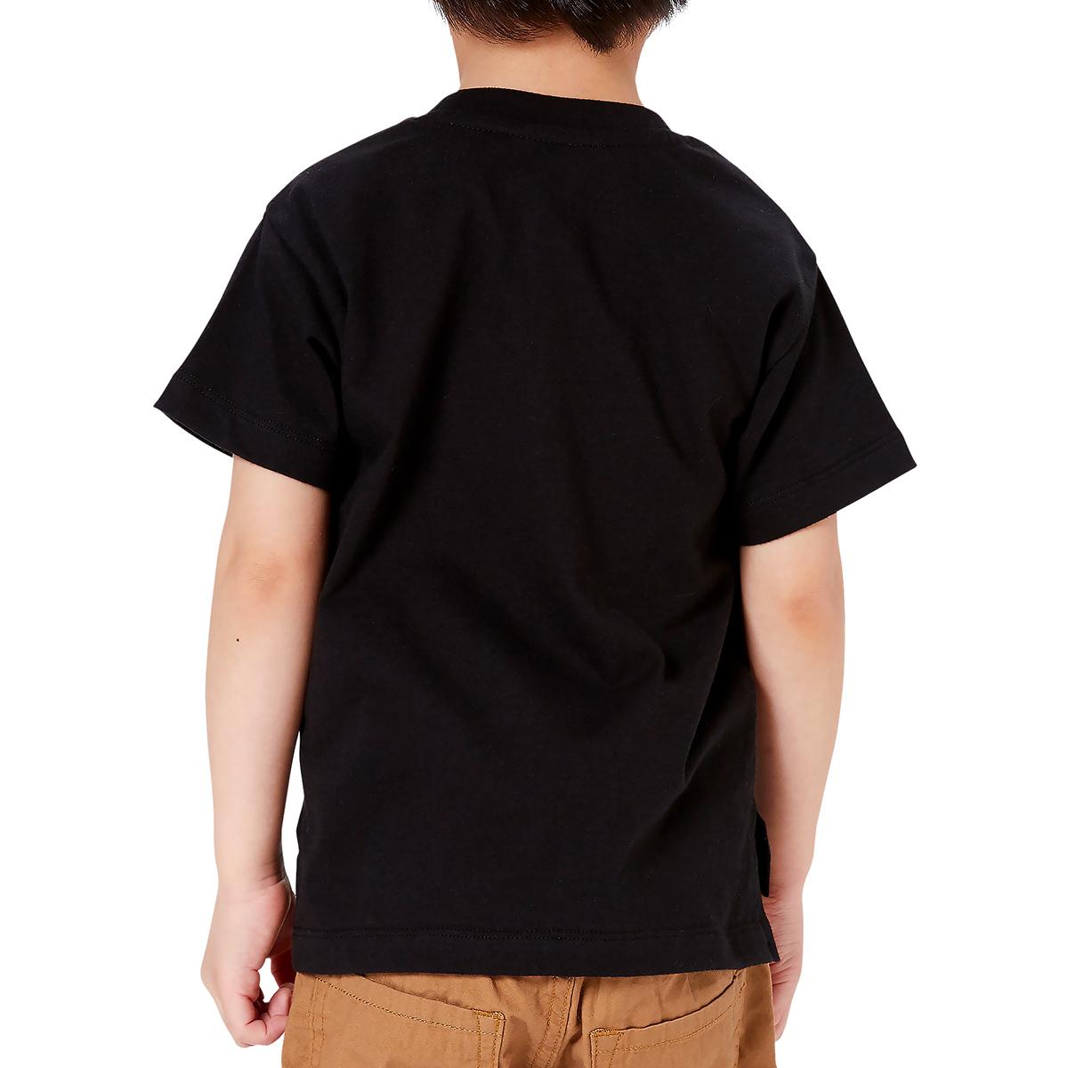 블랙 테이프 브라운 키즈 반팔 티셔츠