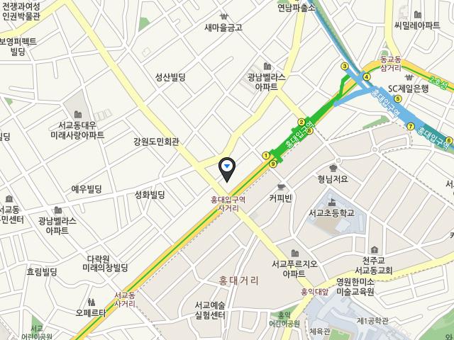 서울 플래그십 스토어 홍대점 지도 이미지