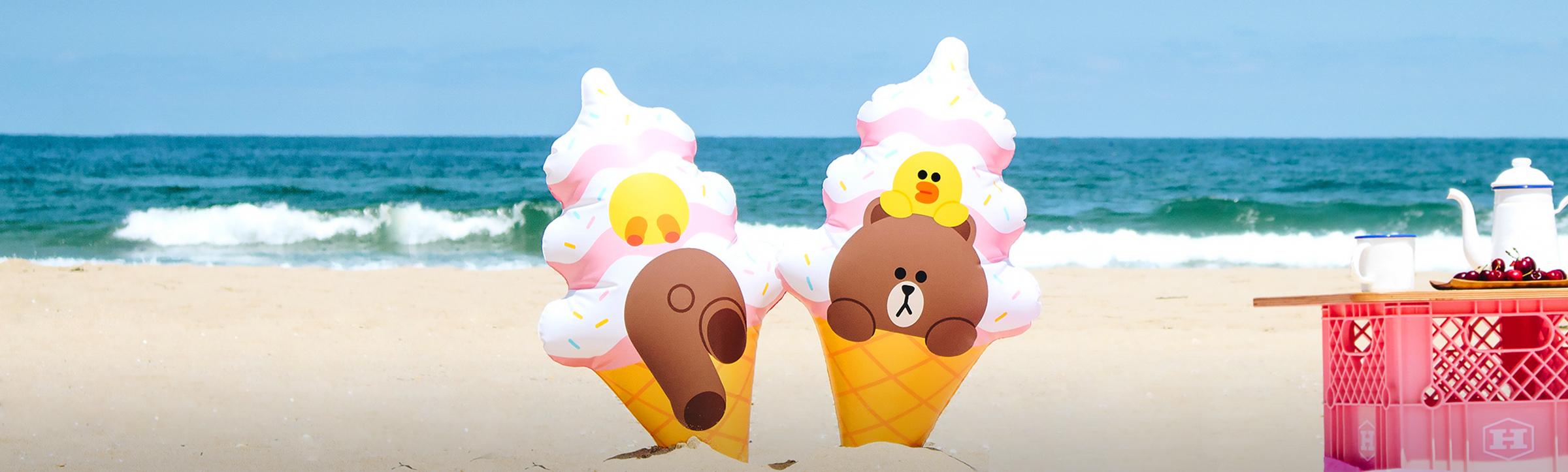 아이스크림 튜브 타고 둥둥!