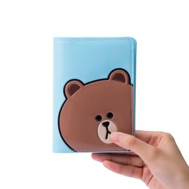 브라운 에나멜 여권 케이스