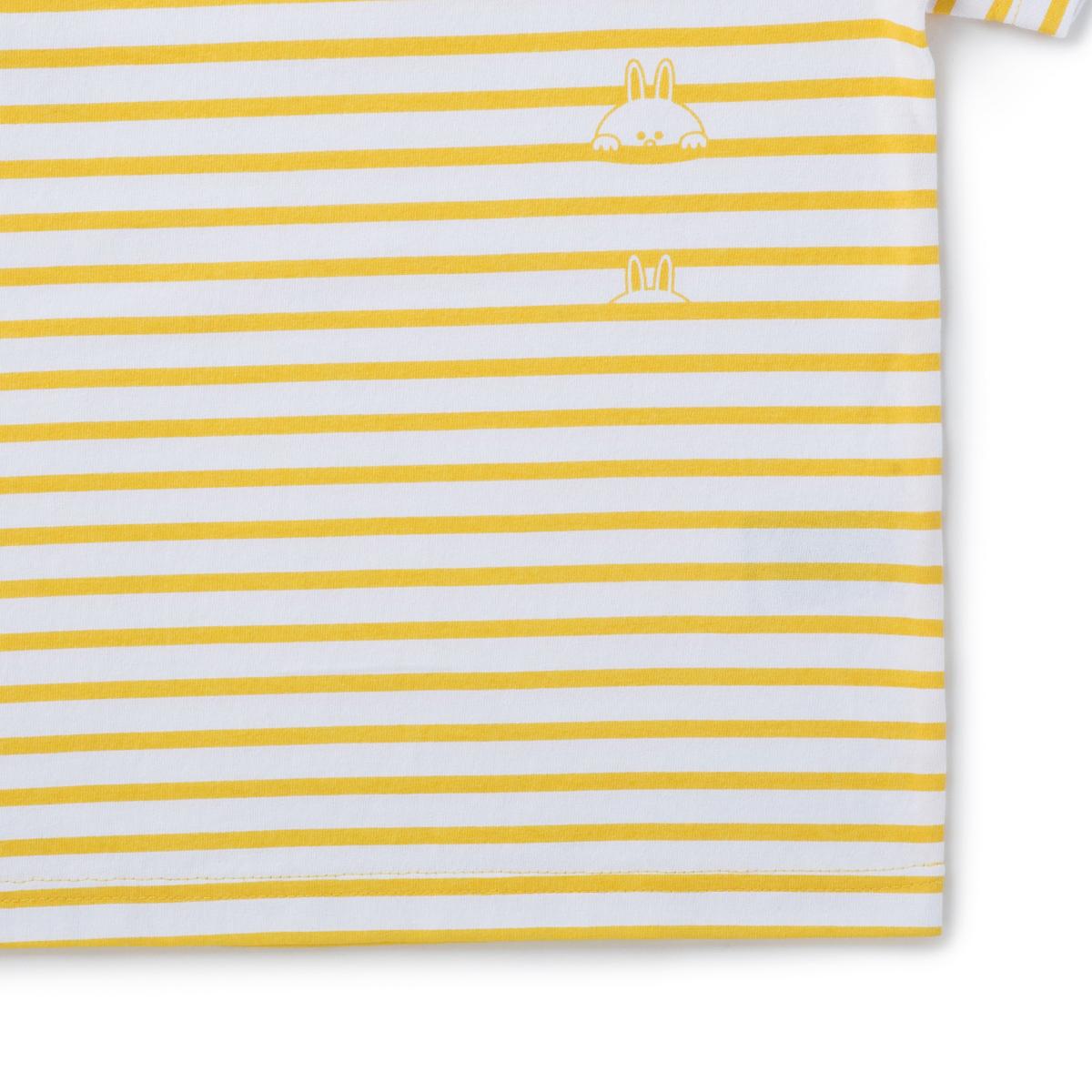 코니 옐로우 스트라이프 키즈 반팔 티셔츠