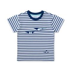 브라운앤프렌즈 블루 스트라이프 키즈 반팔 티셔츠