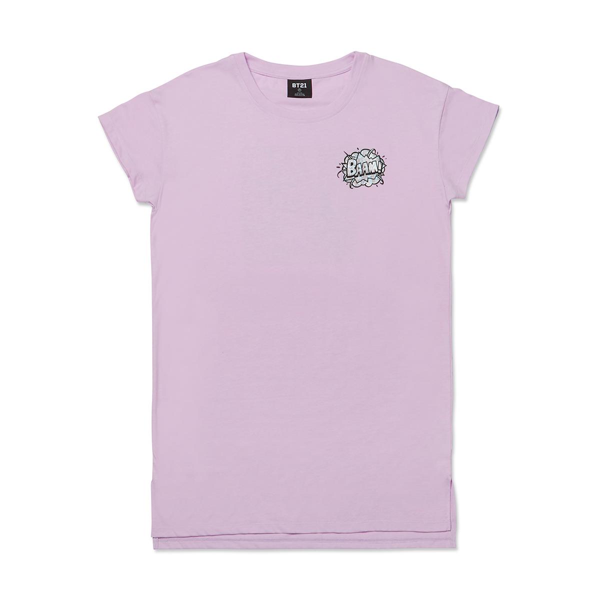 바이올렛 핑크 BT21 코믹팝 파자마 원피스