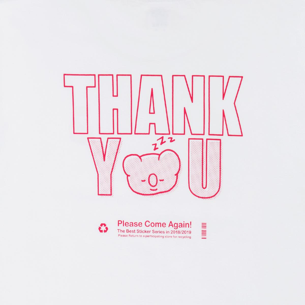 [스티커 컬렉션] BT21 KOYA 땡큐 반팔 티셔츠