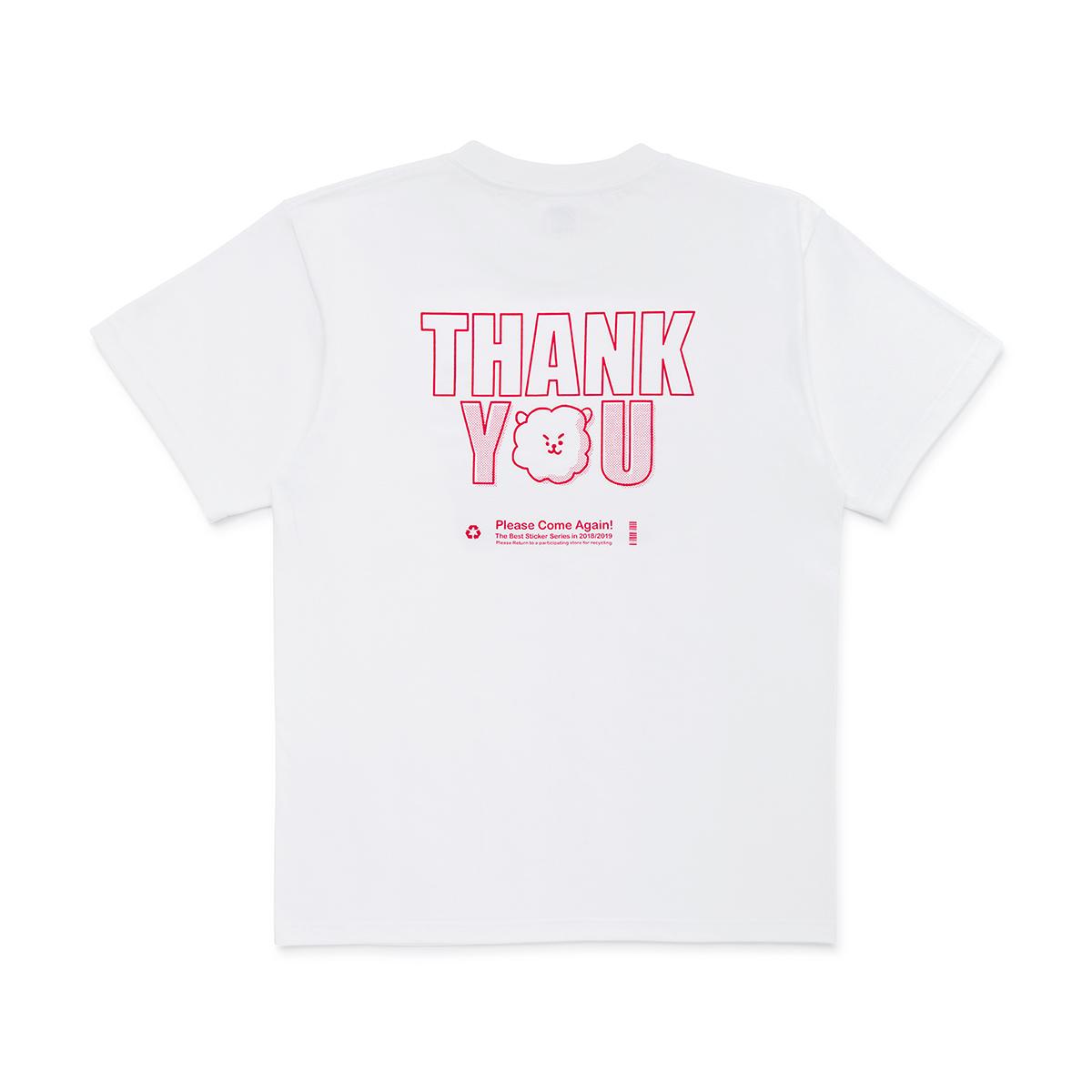 [스티커 컬렉션] BT21 RJ 땡큐 반팔 티셔츠