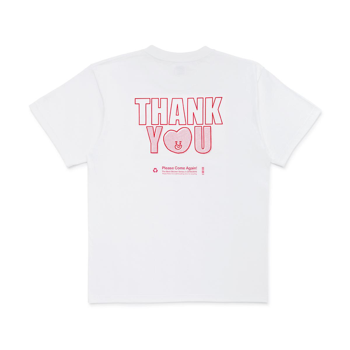 [스티커 컬렉션] BT21 TATA 땡큐 반팔 티셔츠