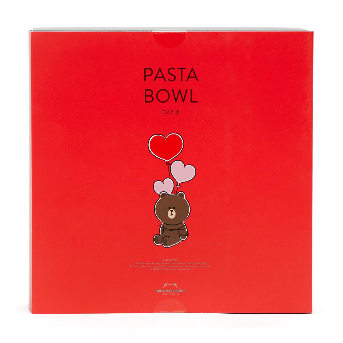 브라운 하트 풍선 파스타 접시