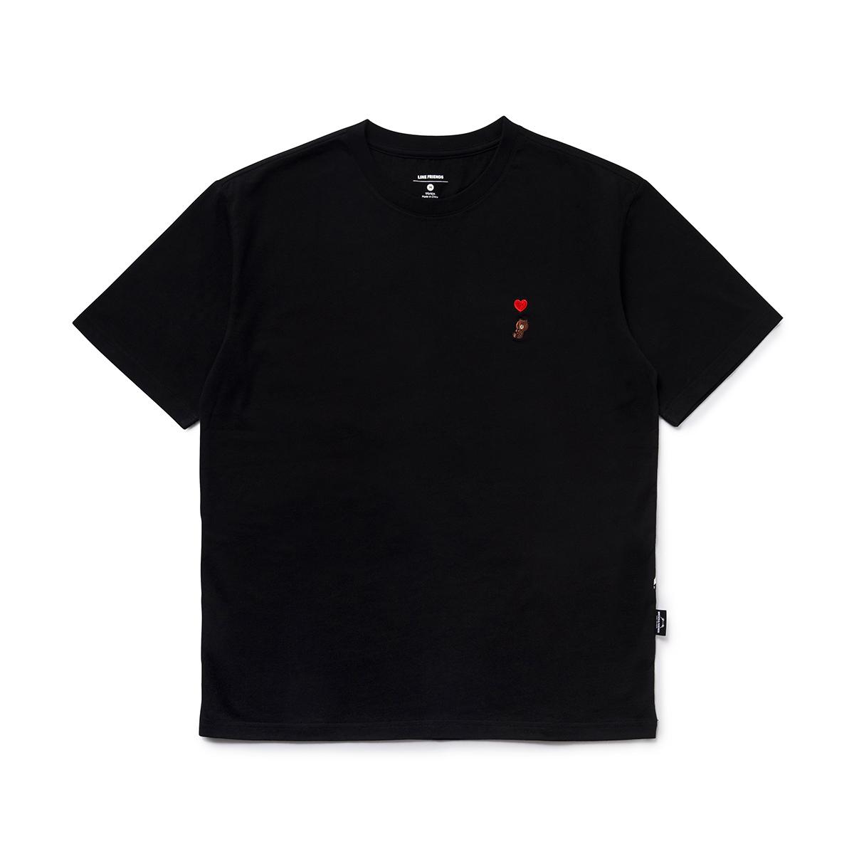 블랙 브라운 커플 티셔츠 (M,L)