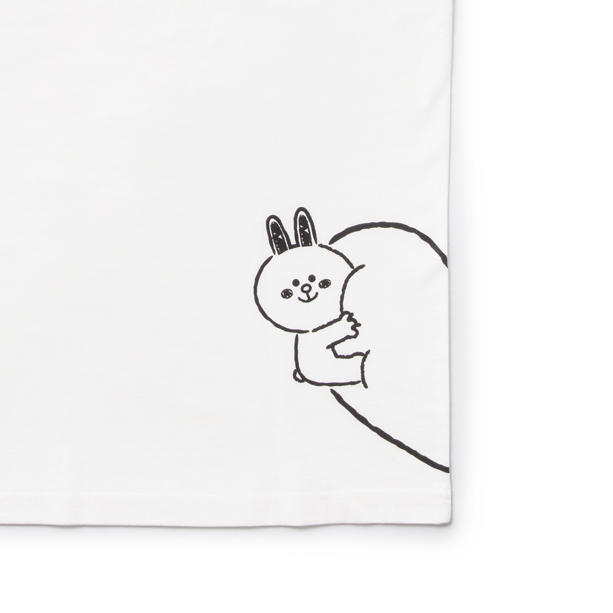 화이트 코니 커플 티셔츠 (S,M)