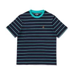 BT21 SHOOKY 베이직 스트라이프 반팔 티셔츠