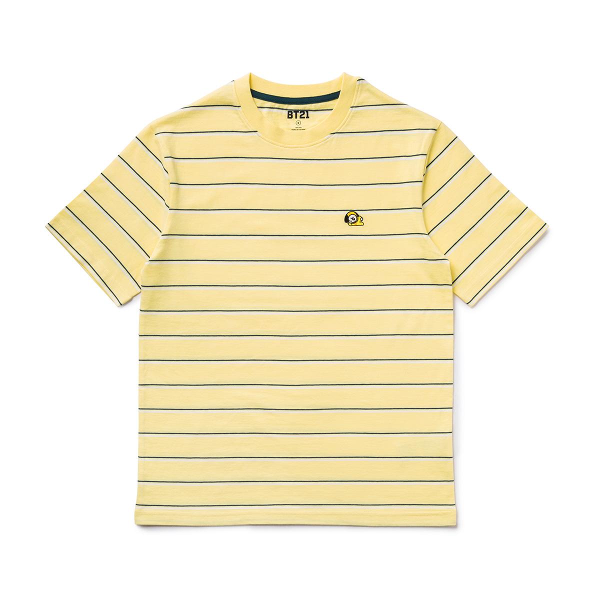 BT21 CHIMMY 베이직 스트라이프 반팔 티셔츠