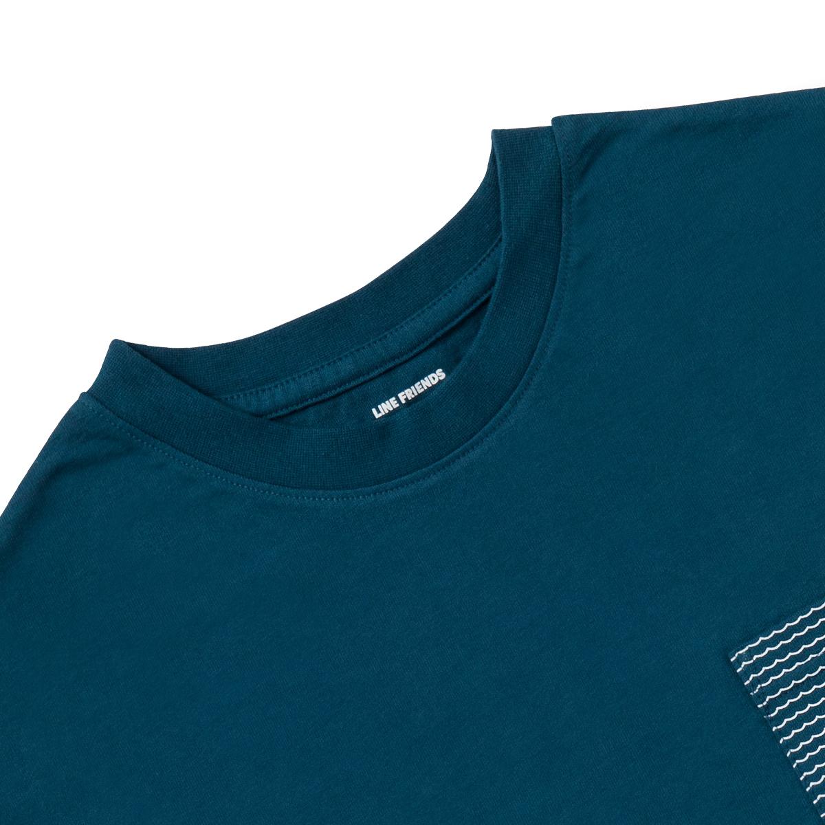 그린 서핑 레너드 포켓 반팔 티셔츠